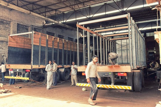2nd and 3rd stage of truck body construction, Sirhind