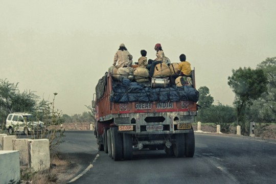 Truck carrying people, Udaipur