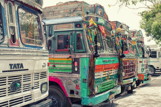 Truck fronts, Udaipur